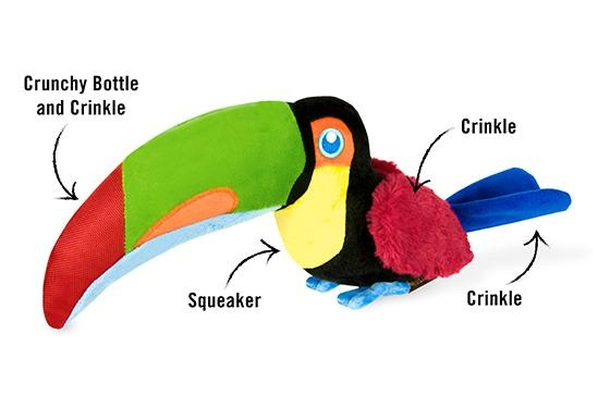 PLAY Fetching Flock Toucan Toy