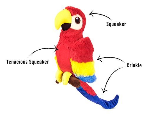 PLAY Fetching Flock Parrot Toy