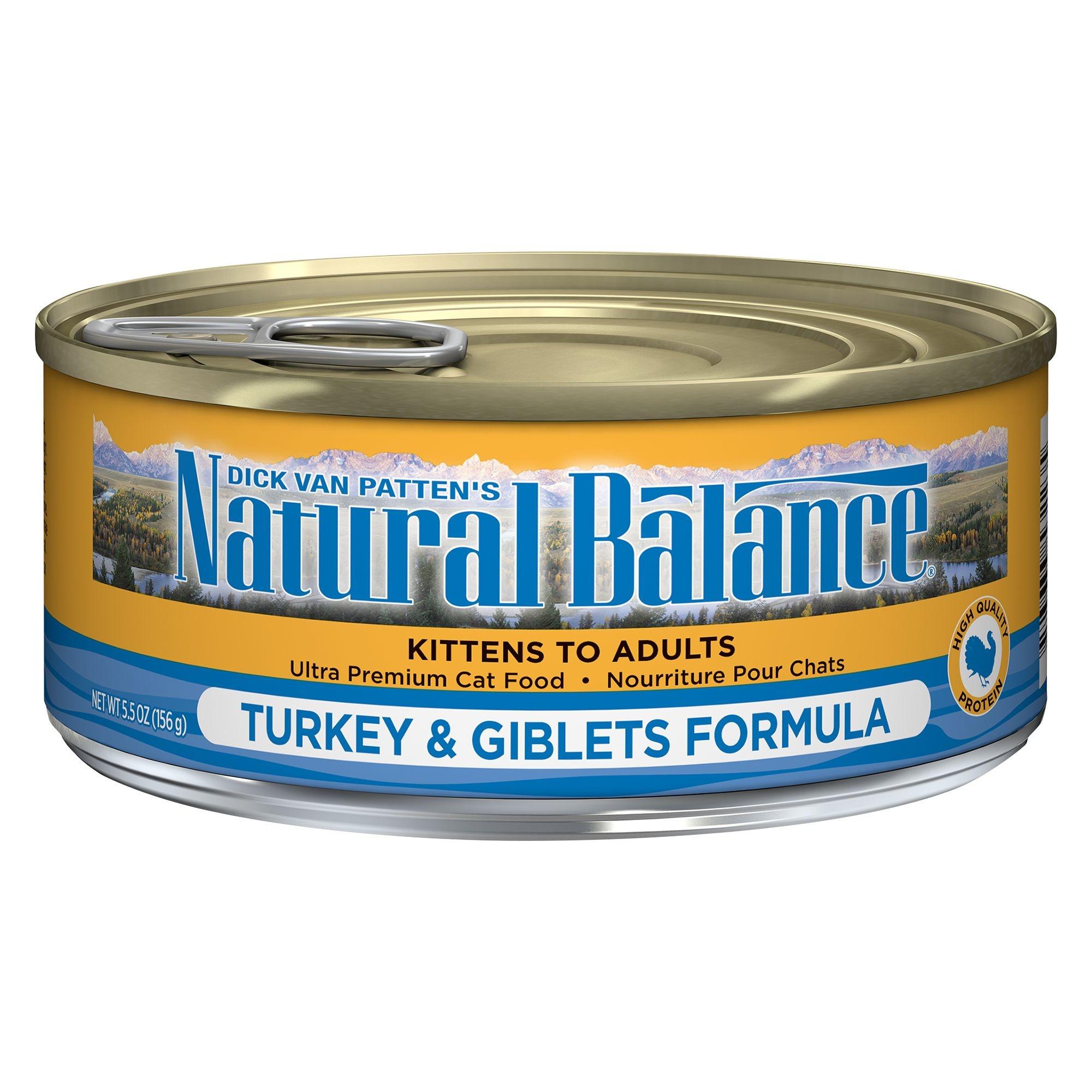 Natural Balance Natural Balance Cat Turkey & Giblets 5.5oz