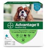Advantage (Bayer) Advantage II Dog Medium 4 pk