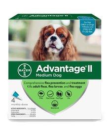Advantage II Dog Medium 4 pk
