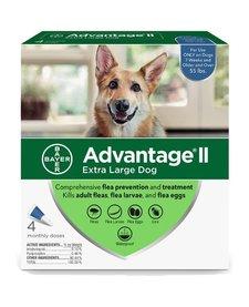 Advantage II XL Dog 55lb