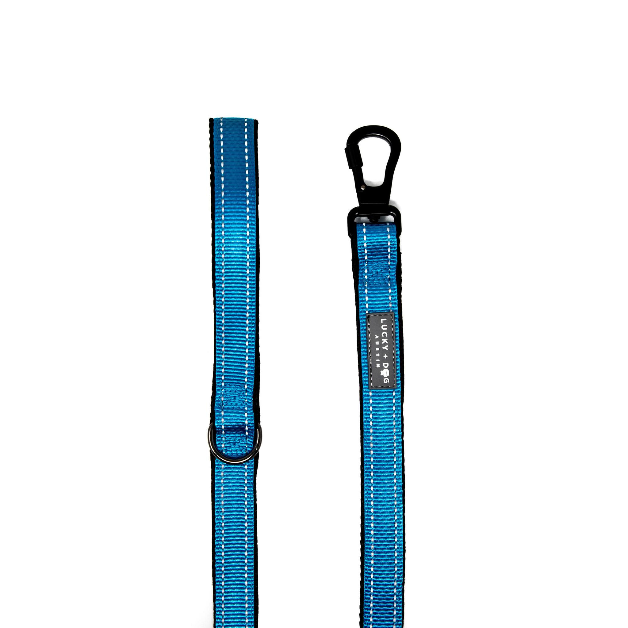 Lucky + Dog Lucky + Dog Standard Leash Light Blue 6 ft