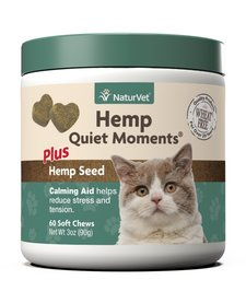 NaturVet Hemp Quiet Momets, Cat 60 ct