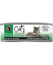 Dave's Cat's Meow Chicken & Chicken Liver Pate 5.5 oz