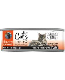 Dave's Cat's Meow Turkey & Turkey Liver Pate 5.5 oz
