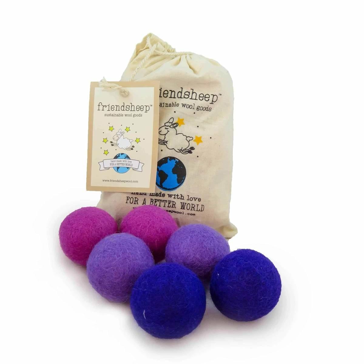 Friendsheep Friendsheep Eco Balls Purple Rain 6 pack