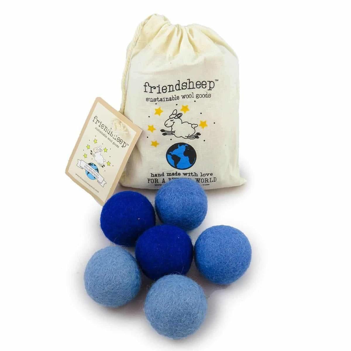 Friendsheep Friendsheep Eco Balls Blue 6 pack