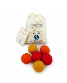 Friendsheep Eco Balls Orange Crush 6 pack