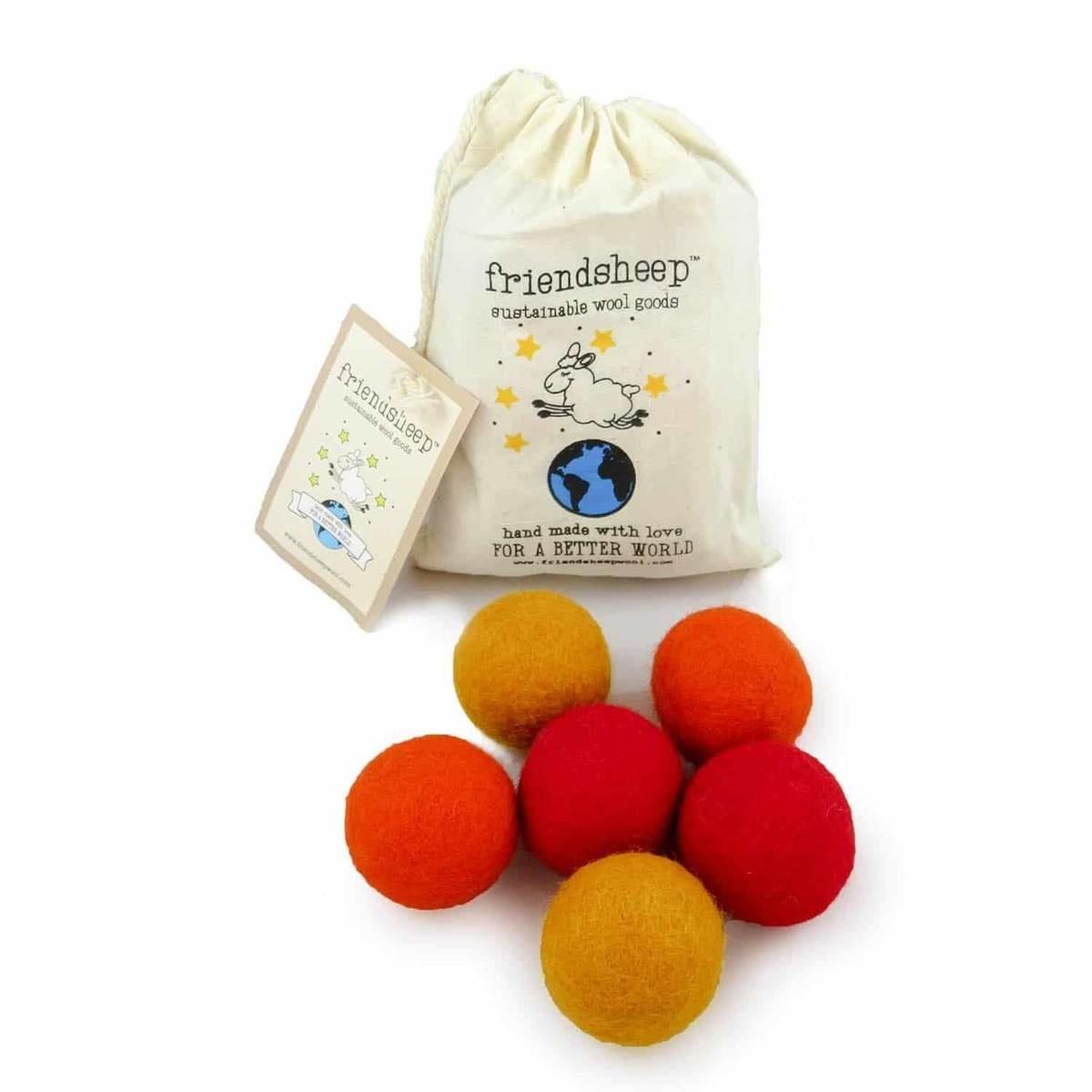 Friendsheep Friendsheep Eco Balls Orange Crush 6 pack