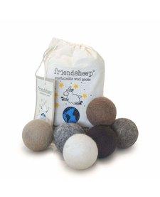 Friendsheep Eco Balls Earth Tones 6 pack