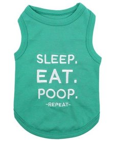 Parisian Pet Eat Sleep Poop T-Shirt