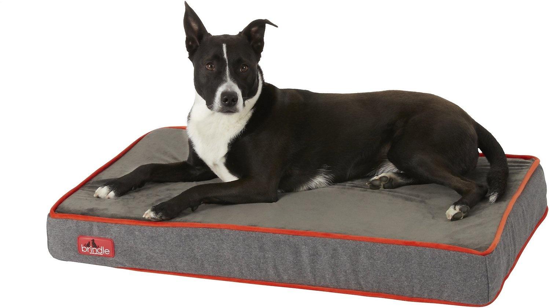 Brindle LG Ortho Bed Charcoal Velour