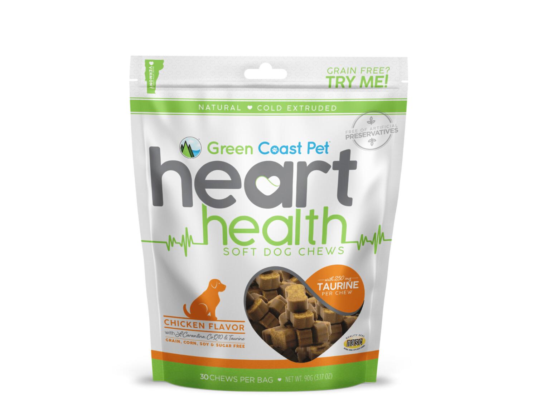 Green Coast Pet Green Coast Pet Heart Health Chews Chicken 30ct