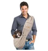 Furry Fido Furry Fido Khaki Adjustable Pocket Pet Sling