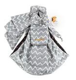 Furry Fido Furry Fido Chevron Grey Adjustable Pocket Pet Sling
