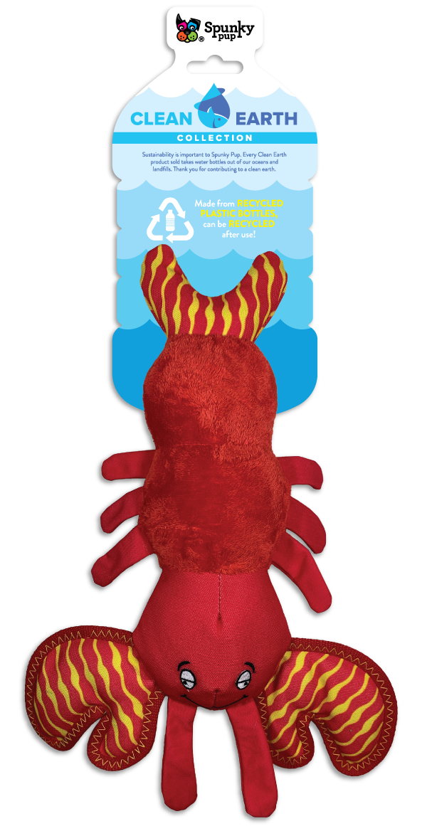 Spunky Pup Spunky Pup Clean Earth Lobster SM