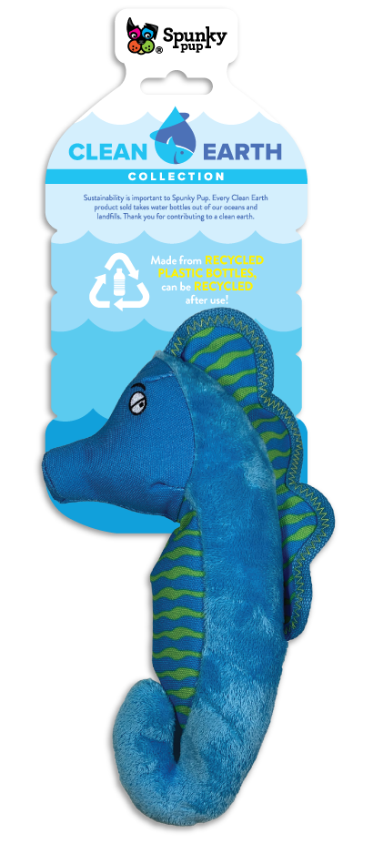 Spunky Pup Spunky Pup Clean Earth Seahorse SM