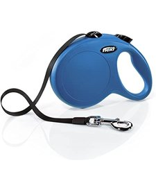 Flexi Retractable Leash Blue SM