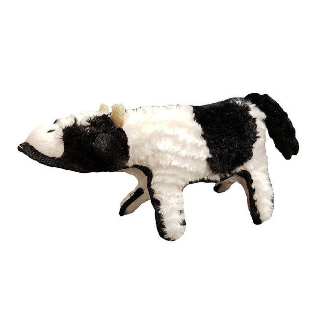 Steel Dog Crinkle Cow w/ Tennis Ball