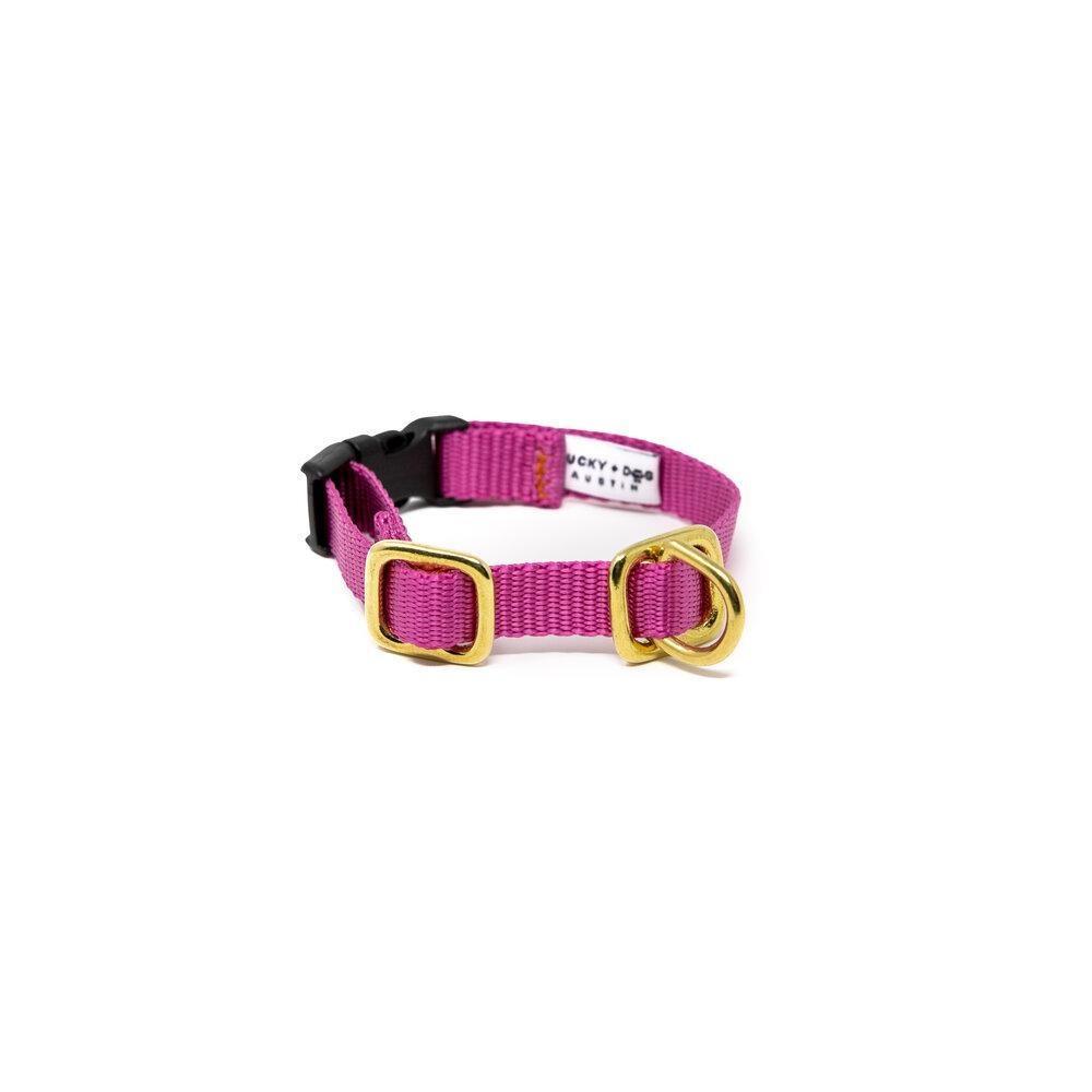 Lucky + Dog Lucky + Dog Small Dog Collar Lavender SM