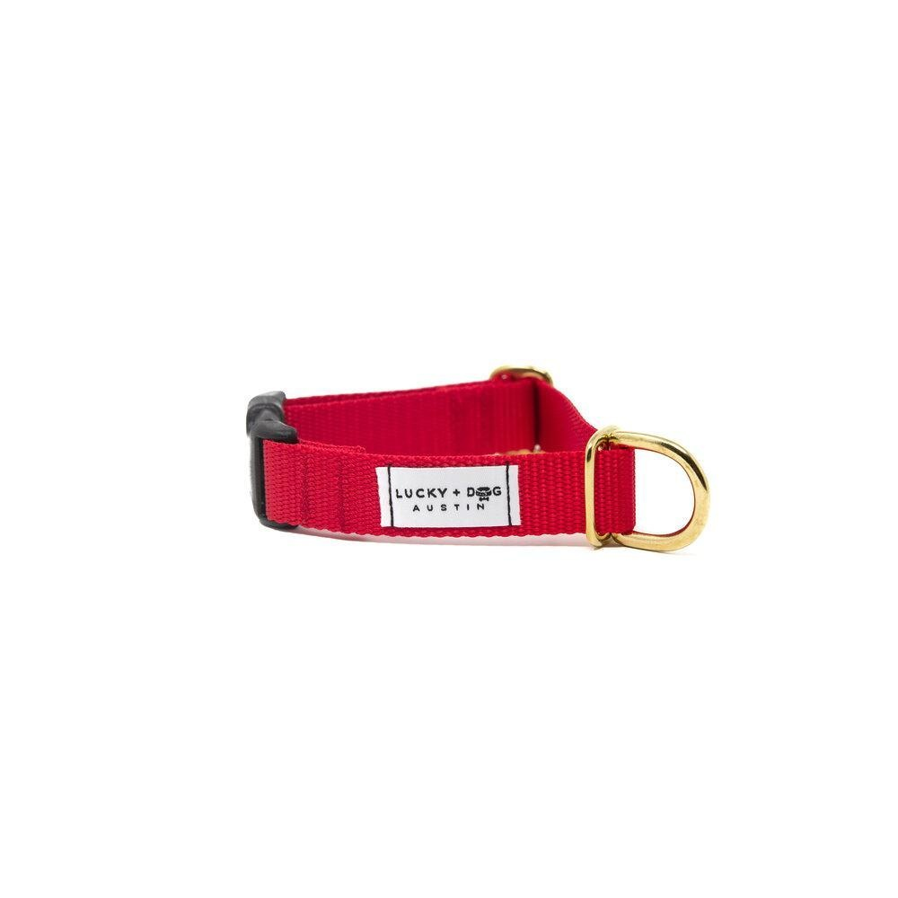 Lucky + Dog Lucky + Dog Activewear Collar Red LG