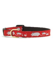 """Up Country Mouse Cat Collar 12"""""""