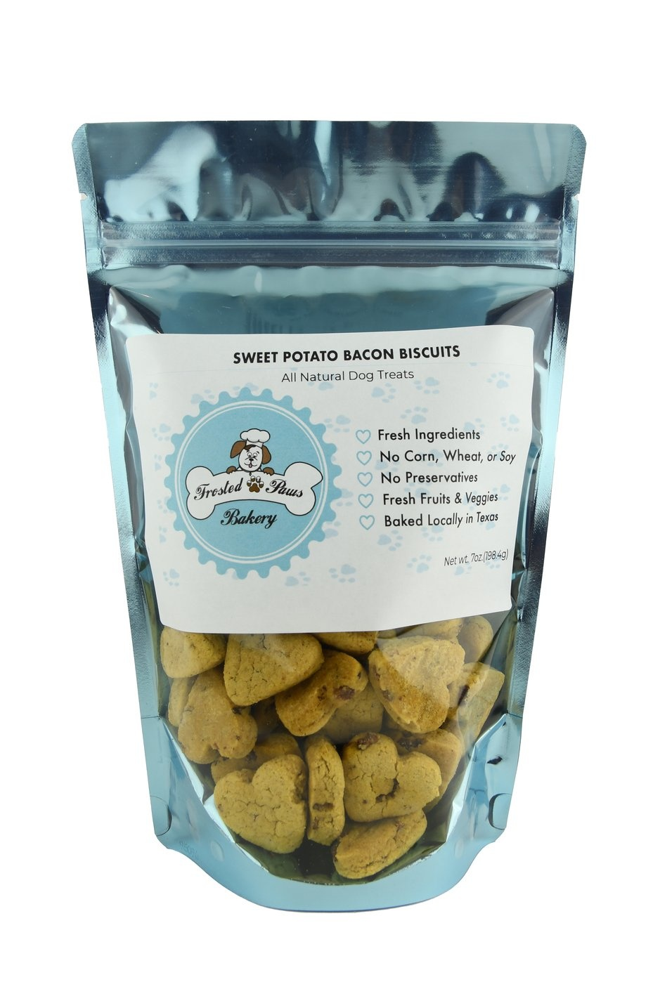 Frosted Paws Frosted Paws Sweet Potato Bacon Biscuits 7 oz