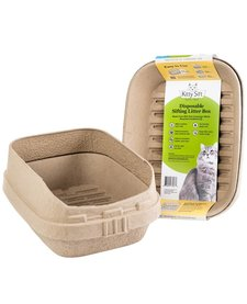 Kitty Sift Disposable Sifting Litter Box with Shield