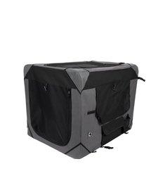 Zeus Deluxe Soft Crate Grey/Black MD