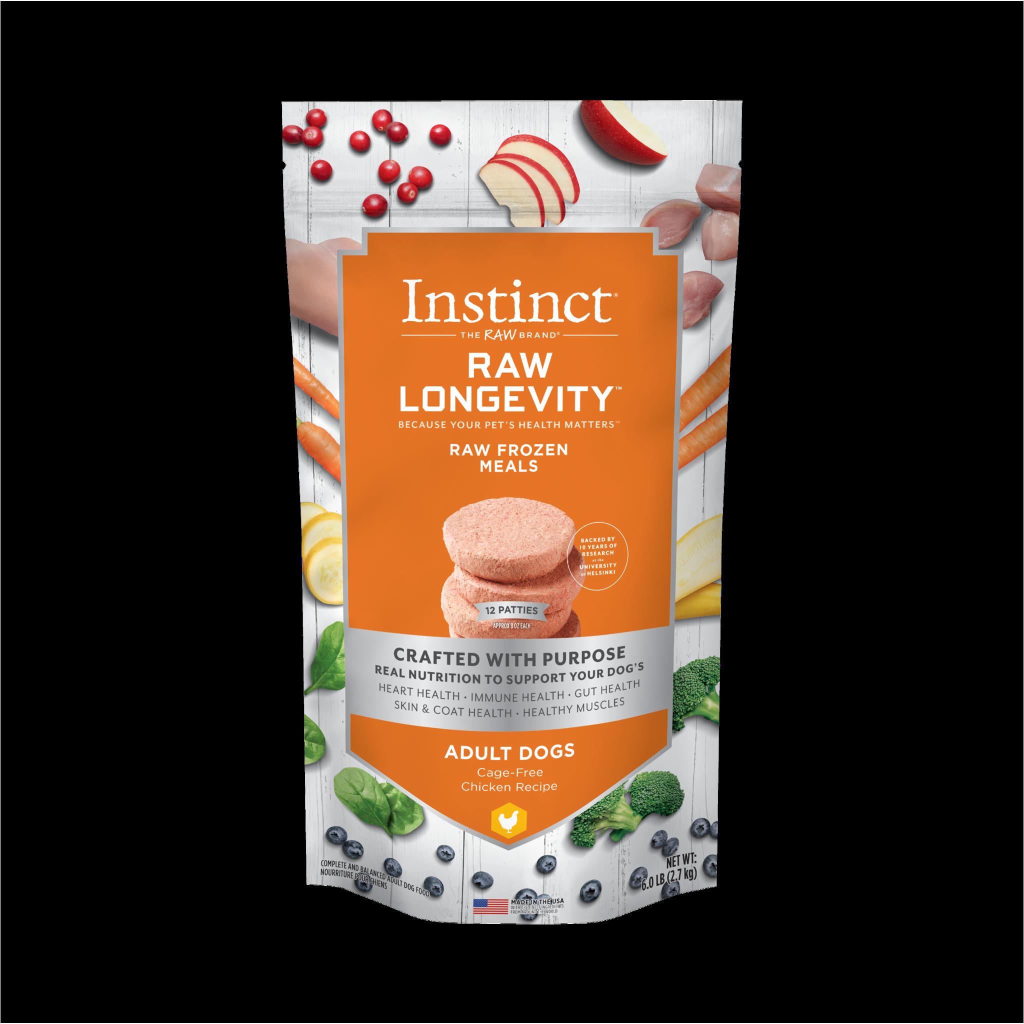 Instinct (Nature's Variety) Instinct Longevity Adult 7+ Chicken Patties 6 lb