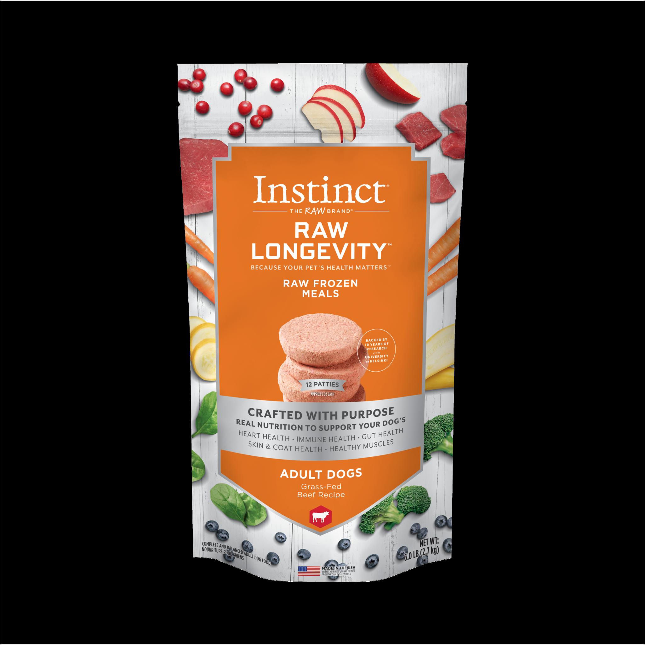 Instinct (Nature's Variety) Instinct Longevity Adult Beef Patties 6 lb