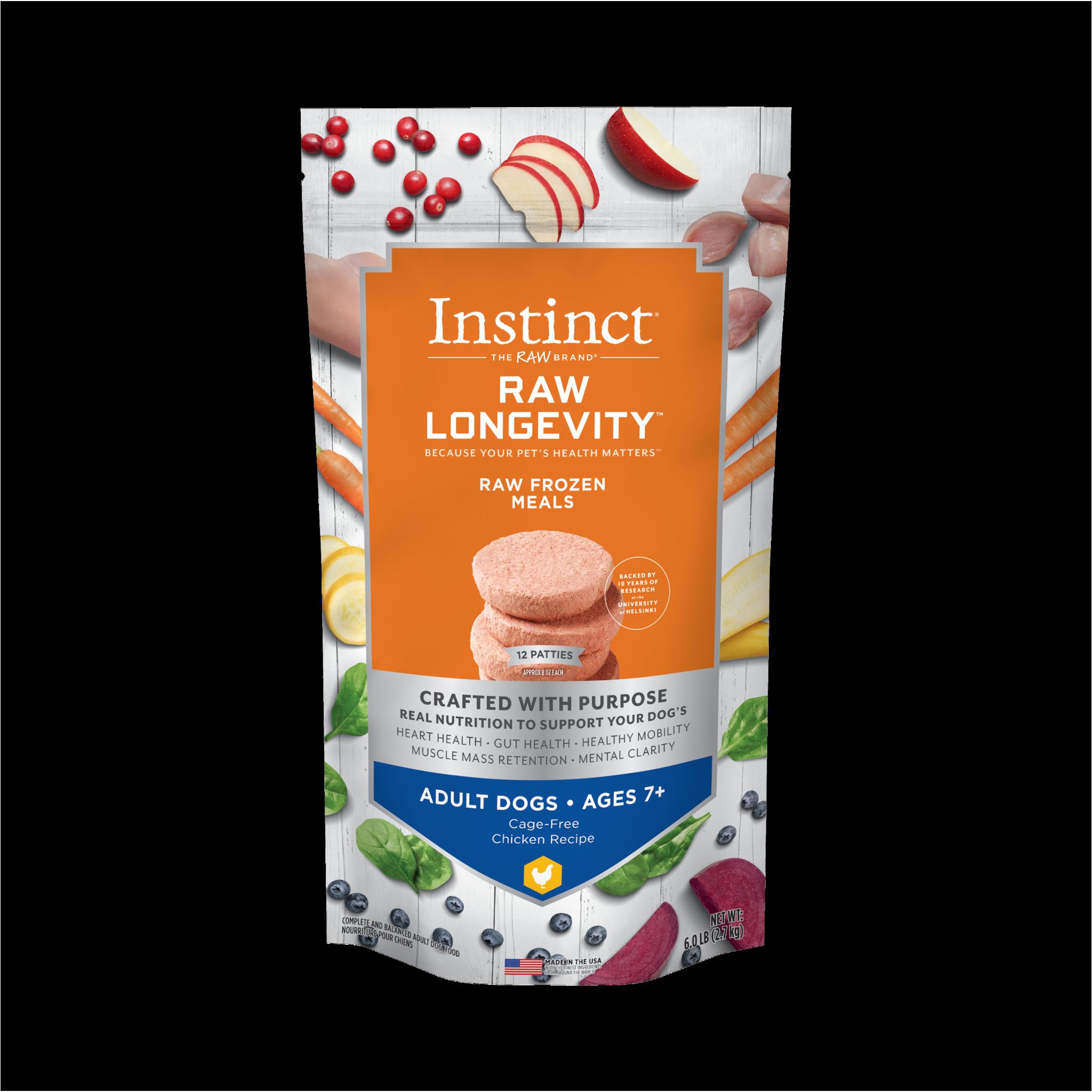 Instinct (Nature's Variety) Instinct Longevity Adult Chicken Patties 6 lb