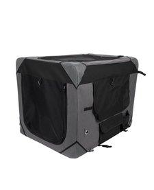 Zeus Deluxe Soft Crate Grey/Black LG