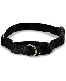 """Martingale Quick Snap Collar, Black P 3/8"""""""