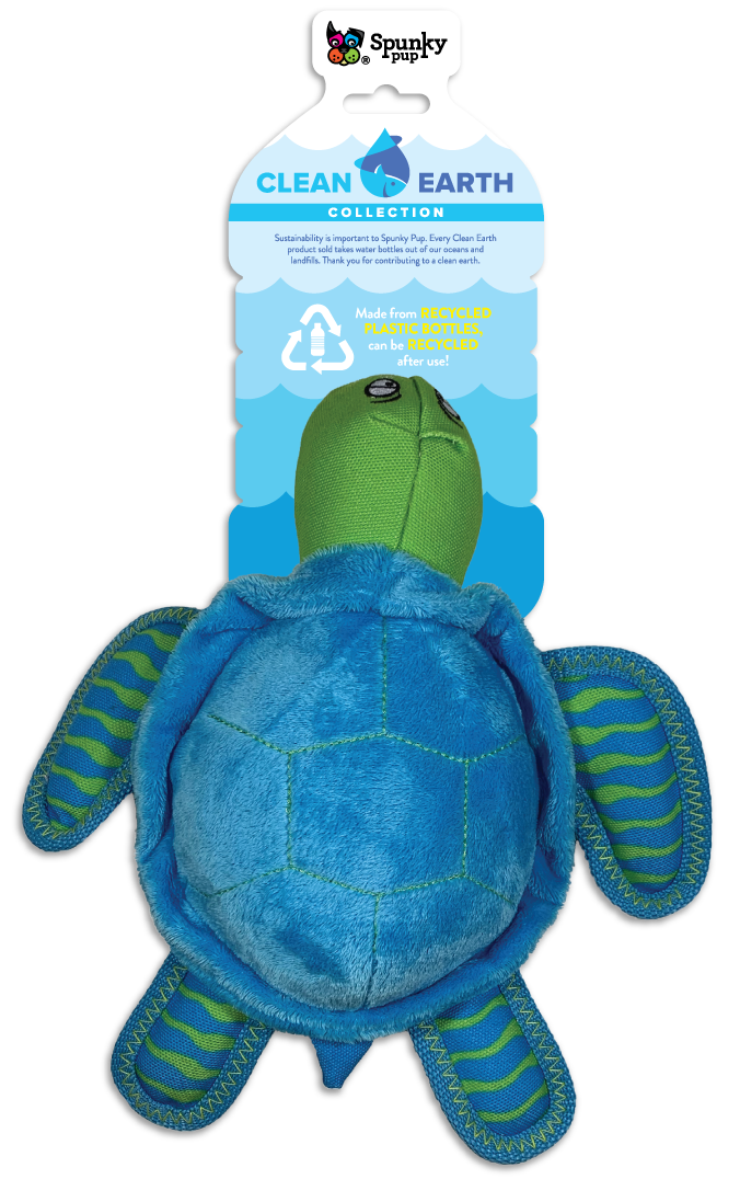 Spunky Pup Spunky Pup Clean Earth Turtle Plush LG
