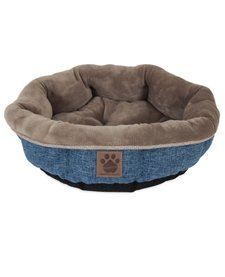 Snoozzy Rustic Shearling Round Pet Bed