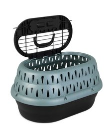 Petmate Top Load Cat Kennel Green Frost