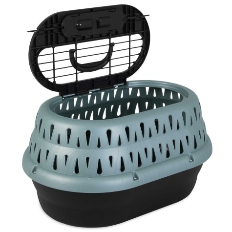 Petmate Petmate Top Load Cat Kennel Green Frost