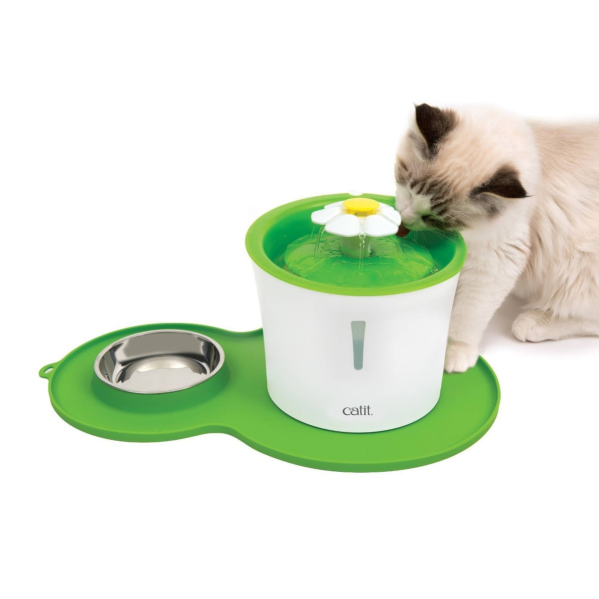 Catit Catit Flower Fountain Senses 2.0 and Placemat Kit