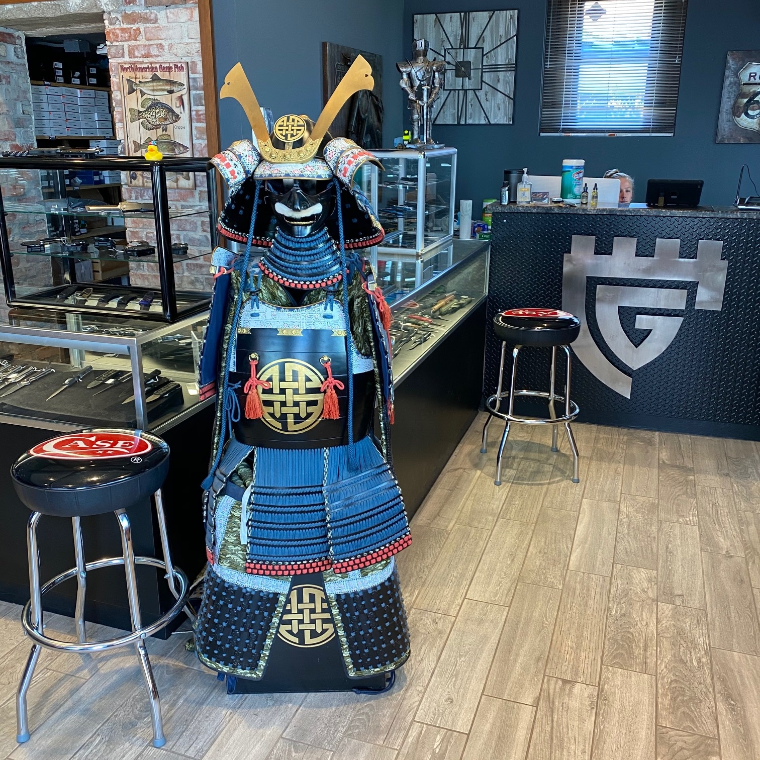 Sammy the Samurai Guarding the Store