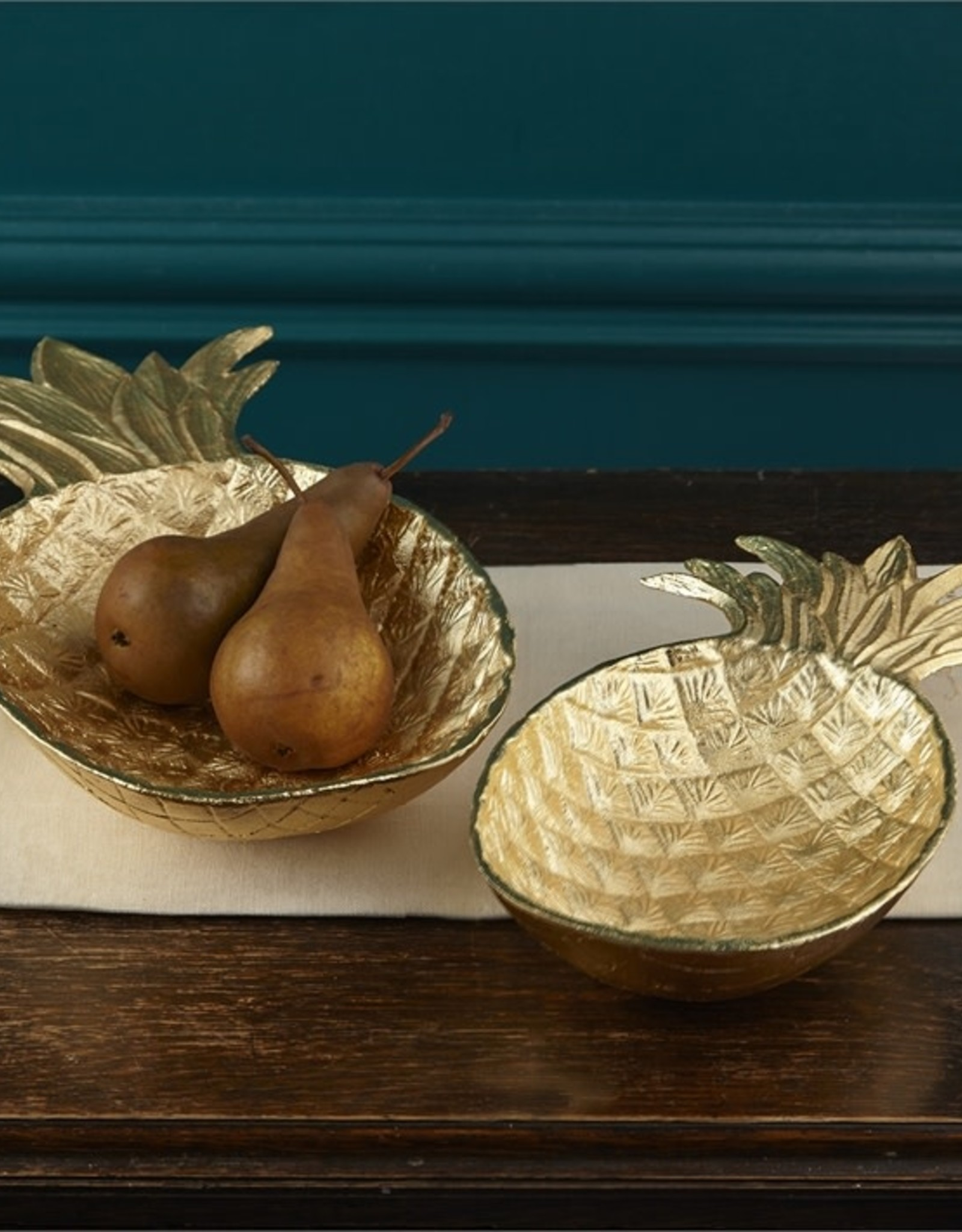Two's Company Gold Pineapple Bowl/Lg