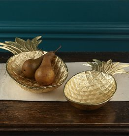 Two's Company Gold Pineapple Bowl/Med