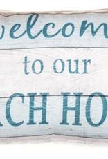 Manual Welcome Beach House Pillow