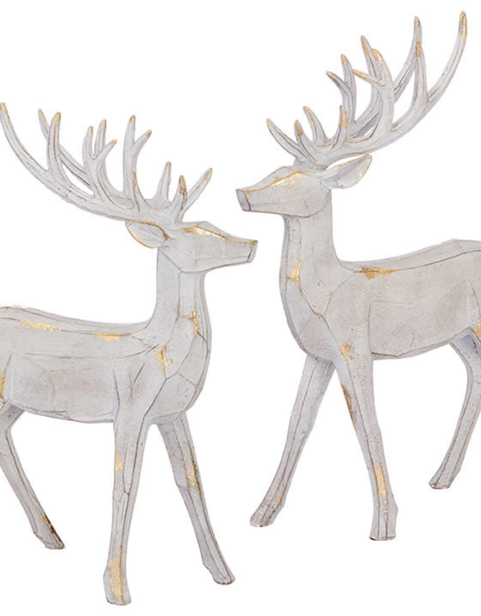 """Raz 14""""White/Gold Deer"""