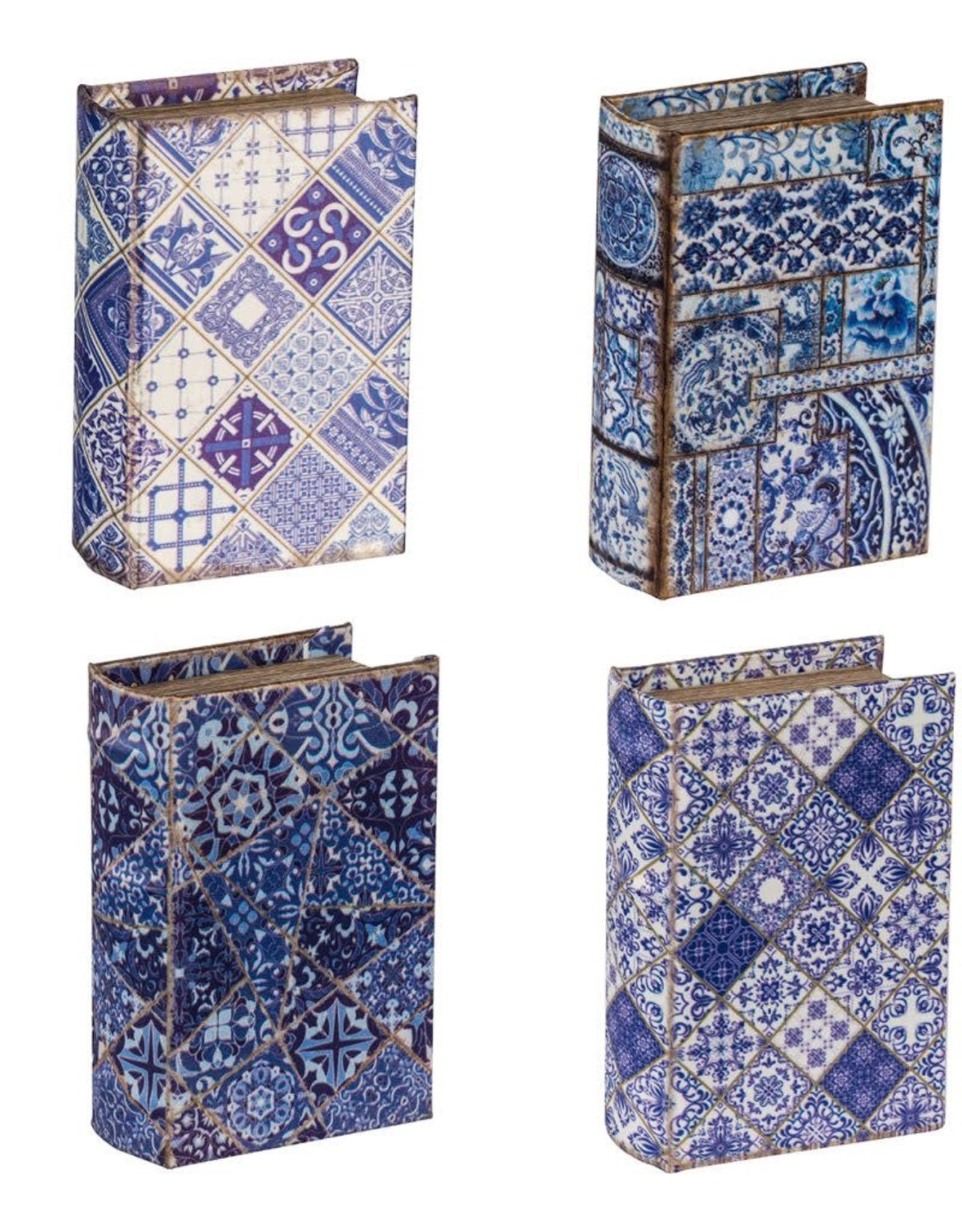 A & B Home Blue & White Book Box