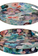 A & B Home Floral Tray W/Handles/Med