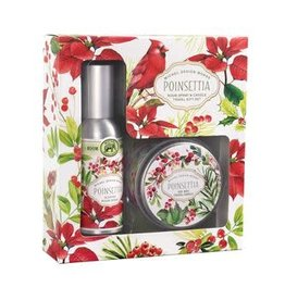 Michel Design Works Poinsettia Room Spray/Candle Gift Set