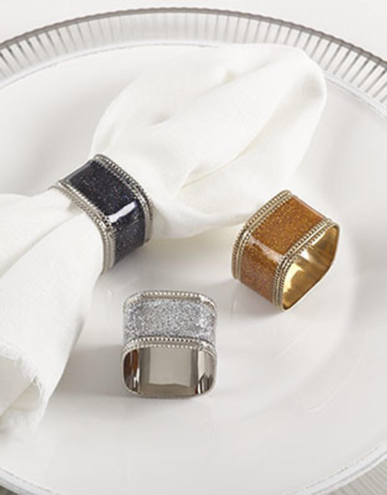 Saro Silver Sparkling Square Napkin Ring