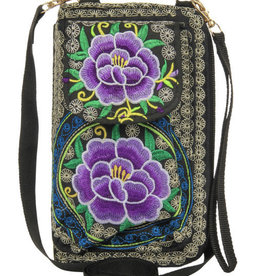 Kaleidioscope Embroidered Cell Phone Wallet